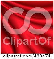 Royalty Free RF Clipart Illustration Of A Background Of Rippled Red Silk by Oligo