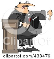 Royalty Free RF Clipart Illustration Of A Preacher Discussing Sins And Going To Hell