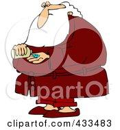 Royalty Free RF Clipart Illustration Of Santa Taking Pills by djart