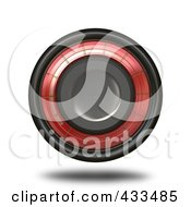 Royalty Free RF Clipart Illustration Of A Floating Red And Black Button by Arena Creative