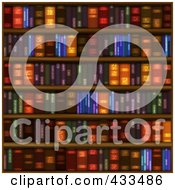 Royalty Free RF Clipart Illustration Of A Seamless Books On Shelves Background