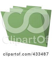 Royalty Free RF Clipart Illustration Of A 3d Green Manila Folder