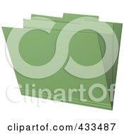 Royalty Free RF Clipart Illustration Of A 3d Green Manila Folder by elaineitalia