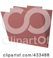 Royalty Free RF Clipart Illustration Of A 3d Pink Manila Folder