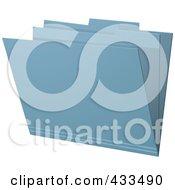 Royalty Free RF Clipart Illustration Of A 3d Blue Manila Folder by elaineitalia