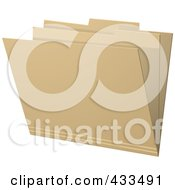 Royalty Free RF Clipart Illustration Of A 3d Brown Manila Folder by elaineitalia