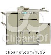 Photocopying Machine Clipart by Dennis Cox