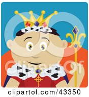 Clipart Illustration Of A Royal Mexican King Holding A Staff