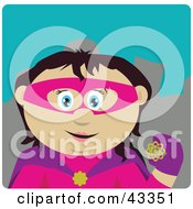 Clipart Illustration Of A Mexican Super Hero Woman In Costume