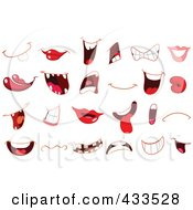 Royalty Free RF Clipart Illustration Of A Digital Collage Of Different Mouths by yayayoyo