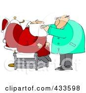 Doctor Examing Santas Mouth