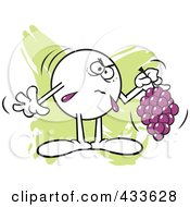 Royalty Free RF Clipart Illustration Of A Moodie Character Holding Sour Grapes 1