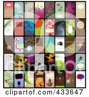 Royalty Free RF Clipart Illustration Of A Digital Collage Of Vertical Businses Card Designs by Anja Kaiser