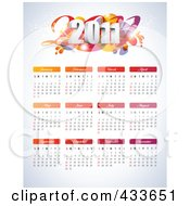 2011 Calendar With Each Month Of The Year Over Gray