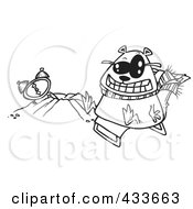 Coloring Page Line Art Of A Groundhog Wearing Shades And Sitting By His Hole