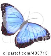 Royalty Free RF Clipart Illustration Of A Pretty Blue Butterfly