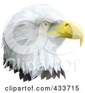 Royalty Free RF Clipart Illustration Of A Profiled Eagle Head