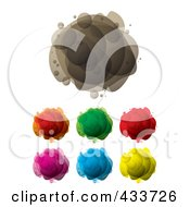 Digital Collage Of Abstract Colorful Bubble Masses