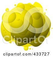 Royalty Free RF Clipart Illustration Of An Abstract Yellow Bubble Mass