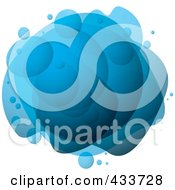 Royalty Free RF Clipart Illustration Of An Abstract Blue Bubble Mass