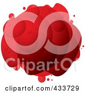 Royalty Free RF Clipart Illustration Of An Abstract Red Bubble Mass