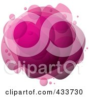 Royalty Free RF Clipart Illustration Of An Abstract Pink Bubble Mass