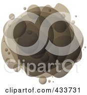 Royalty Free RF Clipart Illustration Of An Abstract Brown Bubble Mass