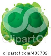 Royalty Free RF Clipart Illustration Of An Abstract Green Bubble Mass