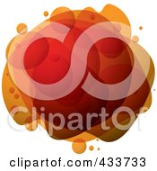 Royalty Free RF Clipart Illustration Of An Abstract Orange Bubble Mass