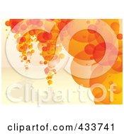 Background Of Orange Bubble Columns