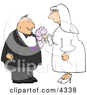 Man And Woman Getting Married To Each Other Clipart