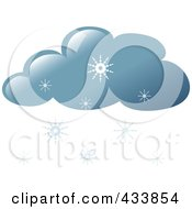 Royalty Free RF Clipart Illustration Of A Snow Cloud by Pams Clipart