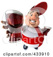 Royalty Free RF Clipart Illustration Of A 3d Fat English Man Holding Out Beer