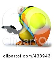 Royalty Free RF Clipart Illustration Of A 3d Toucan Bird Facing Front And Pointing Left