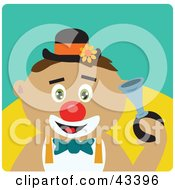 Clipart Illustration Of A Latin American Clown Boy Honking A Horn