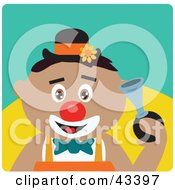 Clipart Illustration Of A Hispanic Clown Boy Honking A Horn