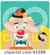 Clipart Illustration Of A Caucasian Clown Boy Honking A Horn