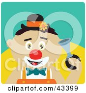 Clipart Illustration Of A Mexican Clown Boy Honking A Horn