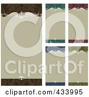 Royalty Free RF Clipart Illustration Of A Digital Collage Of Ornate Beige Frames With Colorful Borders