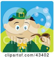 Clipart Illustration Of A Mexican St Patricks Day Leprechaun Boy Smoking A Tobacco Pipe