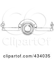 Royalty Free RF Clipart Illustration Of A Vintage Black And White Banner 1