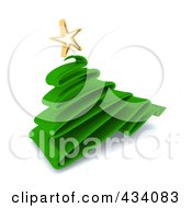 Royalty Free RF Clipart Illustration Of A 3d Green Plastic Scribble Christmas Tree