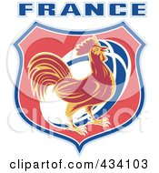Royalty Free RF Clipart Illustration Of A France Rugby Icon 2 by patrimonio