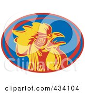 Royalty Free RF Clipart Illustration Of A France Rugby Icon 1 by patrimonio