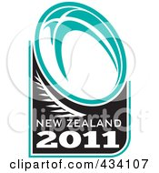 Royalty Free RF Clipart Illustration Of A New Zealand Rugby Icon 9 by patrimonio