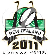 Royalty Free RF Clipart Illustration Of A New Zealand Rugby Icon 6 by patrimonio