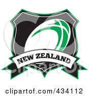 Royalty Free RF Clipart Illustration Of A New Zealand Rugby Icon 8 by patrimonio