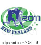 Royalty Free RF Clipart Illustration Of A New Zealand Rugby Icon 5 by patrimonio