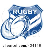 Royalty Free RF Clipart Illustration Of A Chevron Rugby Shield