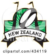 Royalty Free RF Clipart Illustration Of A New Zealand Rugby Icon 7 by patrimonio